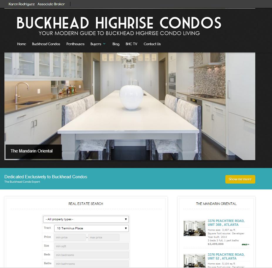 Buckhead High Rise Condos Atlanta Realtor website