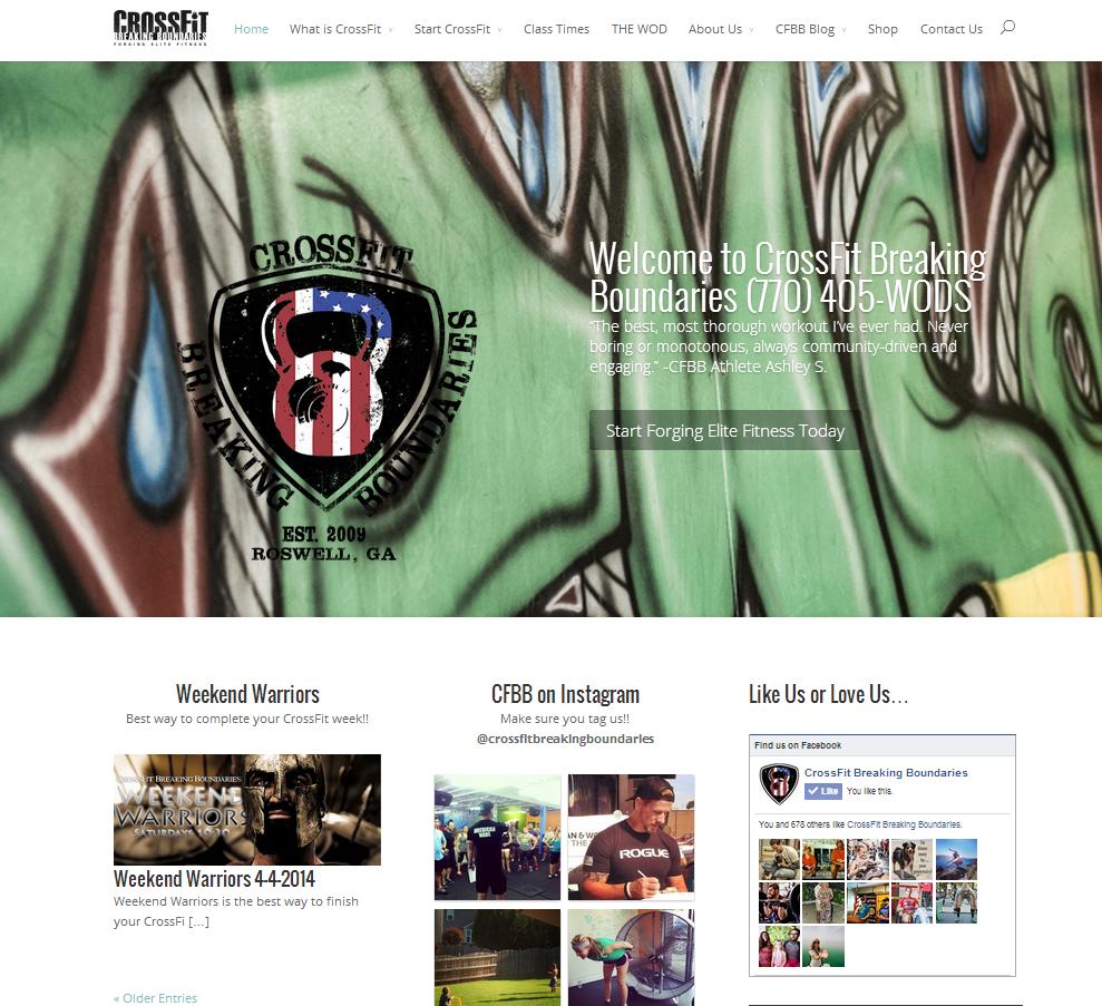 CrossFit Breaking Boundaries Website Design Roswell