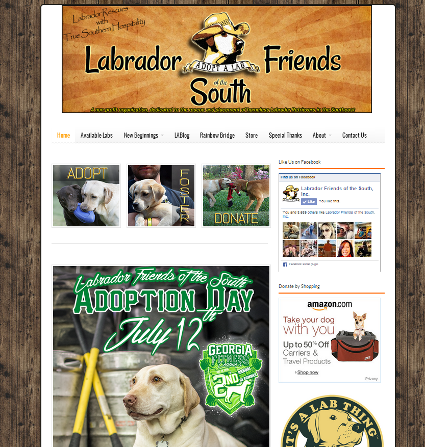labrador friends of the south dog rescue website