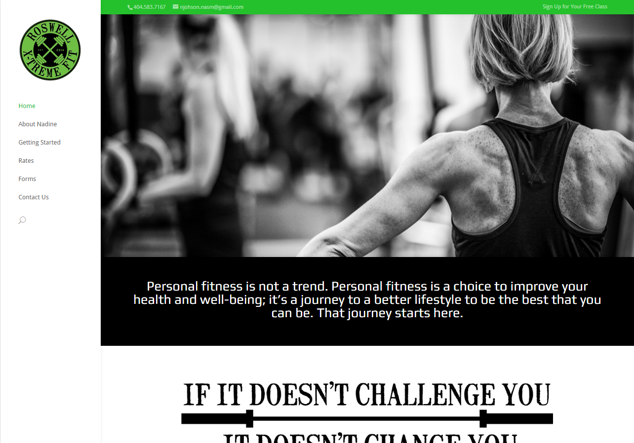 fitness personal training website
