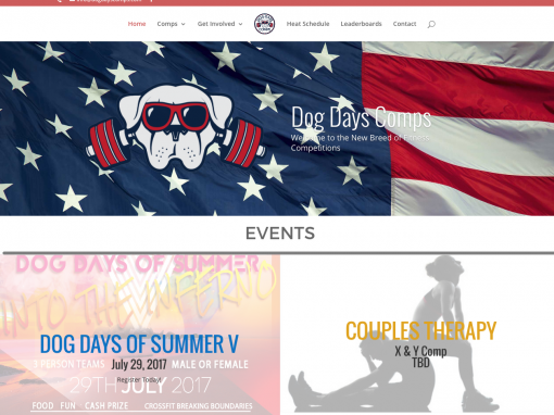 Dog Days Comps | Fitness Competition Website Design